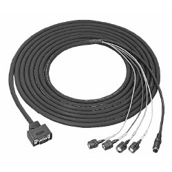 9-pin/4BNCs, DIN 4-pin Cable 5m for DXC-series camera CCMC-9DS